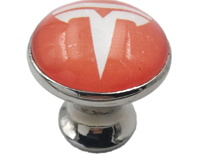 Tesla Red, White Swag Glass Knob for Dresser Drawers, Cabinet Drawers, Kitchen Cabinets