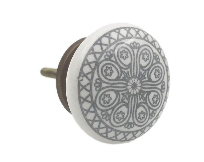 Gray Wheel Flat Knob Pull for Dresser Drawer, Cabinet Drawer Pull, Cabinet Door, Bronze Hardware