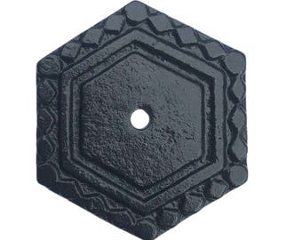 Hexagon Decorative Knob Back Plate Base (7 COLORS) for any Drawer or Door Knob or Pull