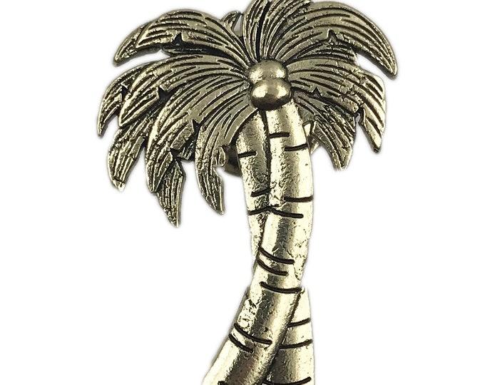 Palm Tree Metal Dresser Drawer, Cabinet Drawer or Door Knob Pull