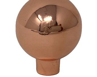 Bulb Round Shiny Copper Metal Knobs for Drawers, Cabinets, Furniture - Pack of 12