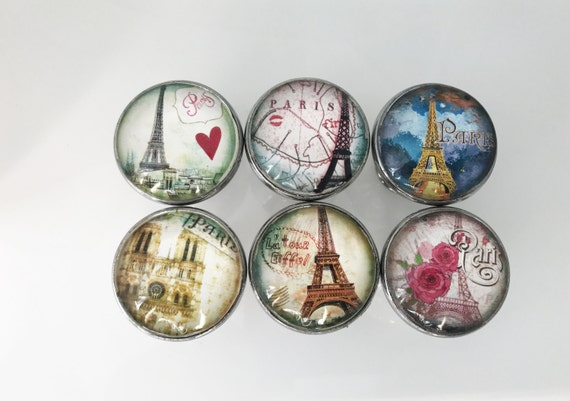 Paris, Eiffel Tower Themed Decorative Drawer Knobs For Cabinets, Dressers,  Doors, Furniture   6 Pack From ShabbyRestore On Etsy Studio