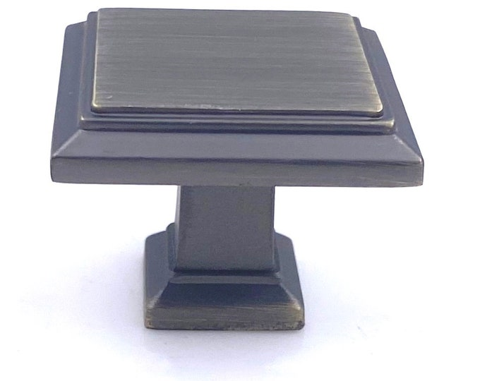 Square Black Oil Brushed Knob for Drawers, Cabinets, Furniture