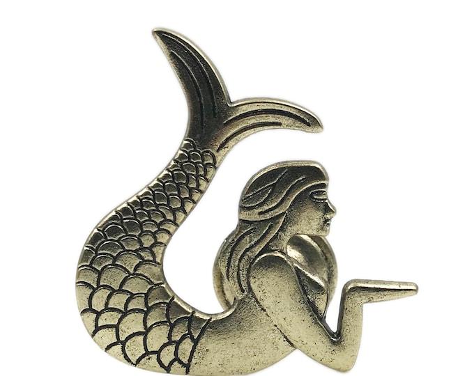 Mermaid Metal Brass Dresser Drawer, Cabinet Drawer or Door Knob Pull