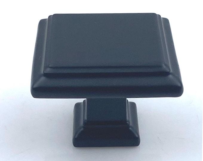 Square Black Matte Knob for Drawers, Cabinets, Furniture