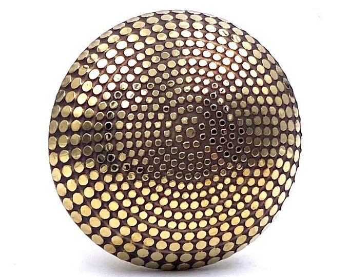 Brass Knob with Black & Gold Tones, Lightweight, Kitchen Drawer Cabinet Pull, Dresser Pull, Dresser Knob
