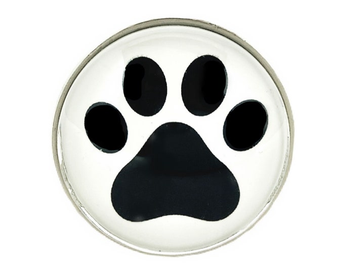 Dog Cat PAWS Glass Knob for Dresser Drawers, Cabinet Drawers, Kitchen Cabinets