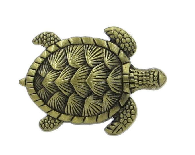 Turtle Metal Dresser Drawer, Cabinet Drawer or Door Knob Pull