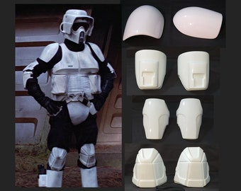 Star Wars - Biker Scout Trooper - Arm/Knee Kit Armor - Costume Prop Cosplay