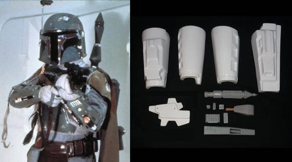 Star Wars Boba Fett ESB Gauntlets Armor Kit Mandalorian | Etsy