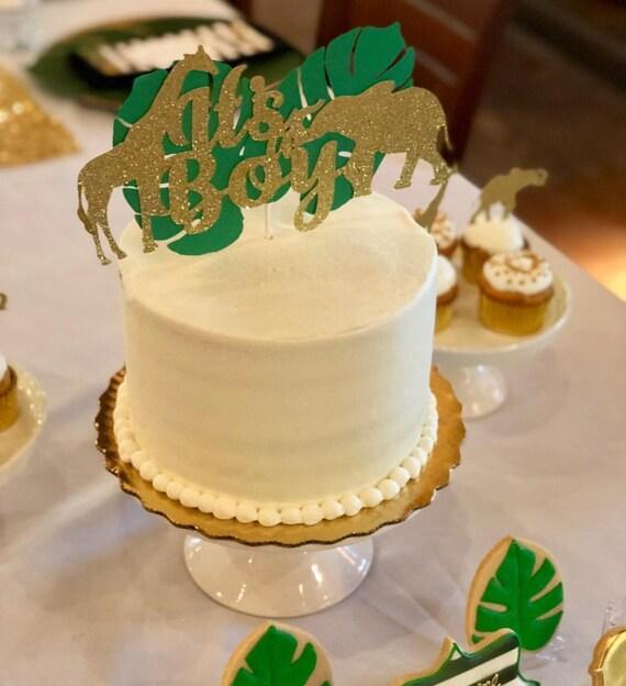 Its a Boy Cake Topper Its a Girl Cake Topper Safari Cake | Etsy