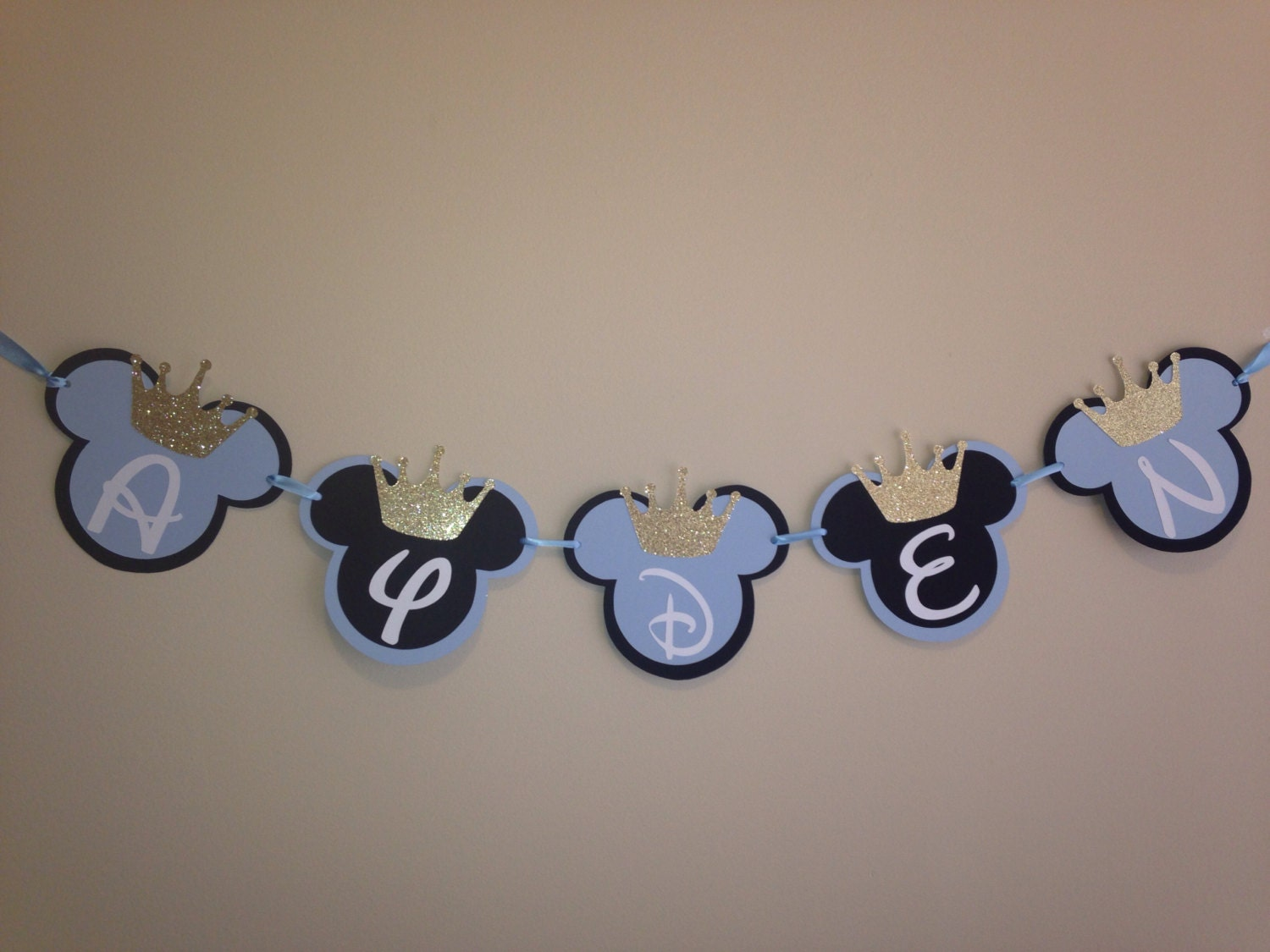Prince Mickey Banner Royal Prince Mickey Banner Mickey Mouse Etsy