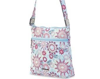 Quilted Cotton Handbag Crossbody with Lockets