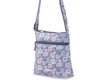 Quilted Cotton Handbag Crossbody with Lockets