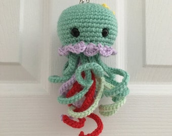 Kawaii Jellyfish Ariel The Little Mermaid crochet keychain - Free Shipping