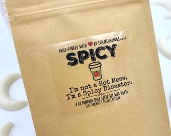 PUMPKIN SPICE LATTE Soy Wax Melts- Spicy wax melts, wax melts, soy wax melts, fall wax melts, pumpkin spice latte wax melts, soy wax melts