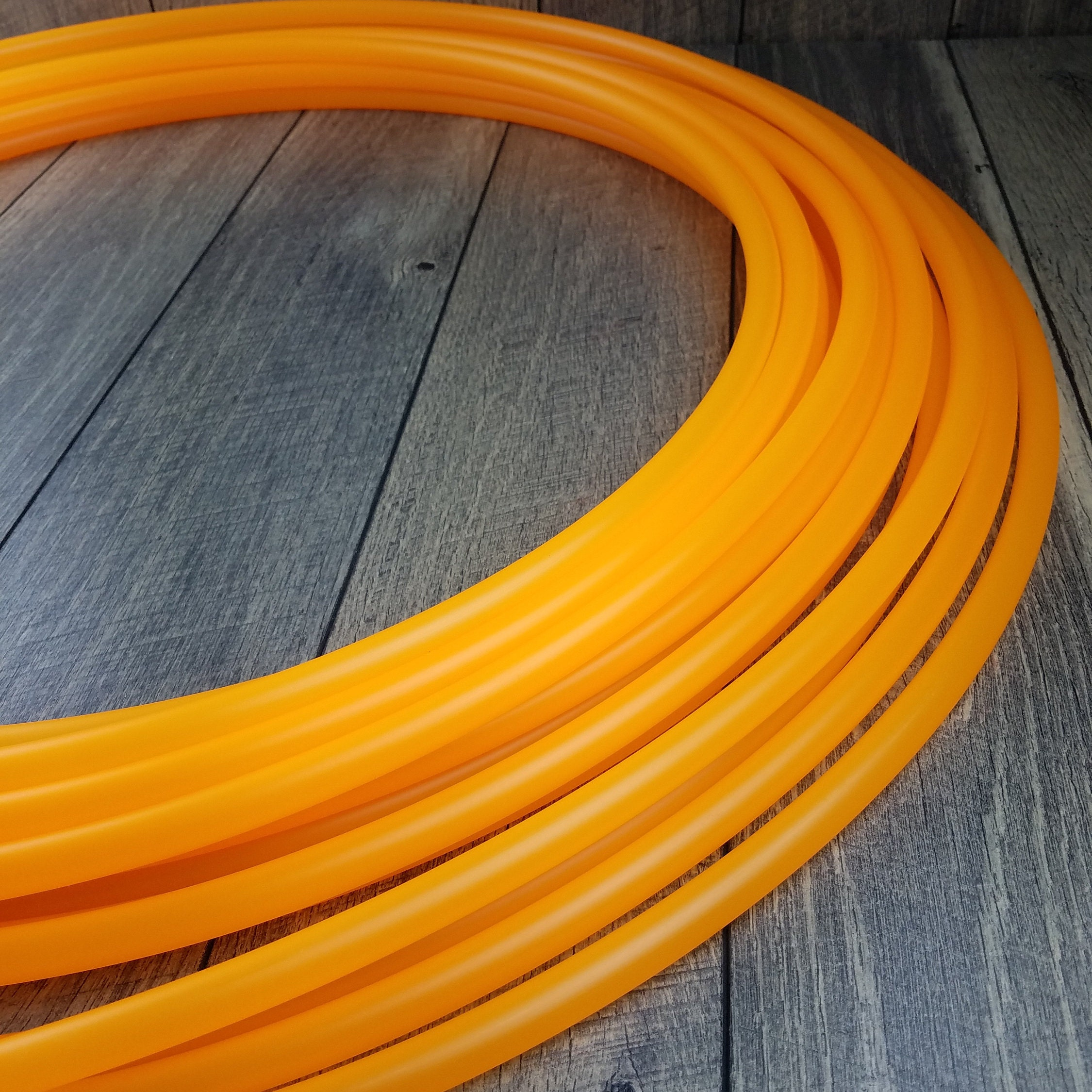 3 4 Polypro UV Orange Hula Hoop Made to Order
