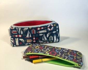 The Sara and Johanna Pencil Cases PDF Sewing Pattern