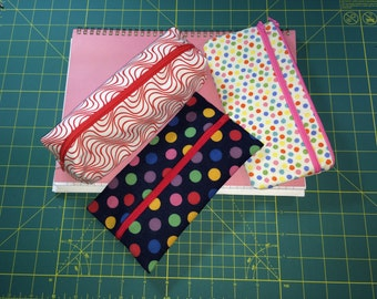 Pencil Case x 3 Pattern