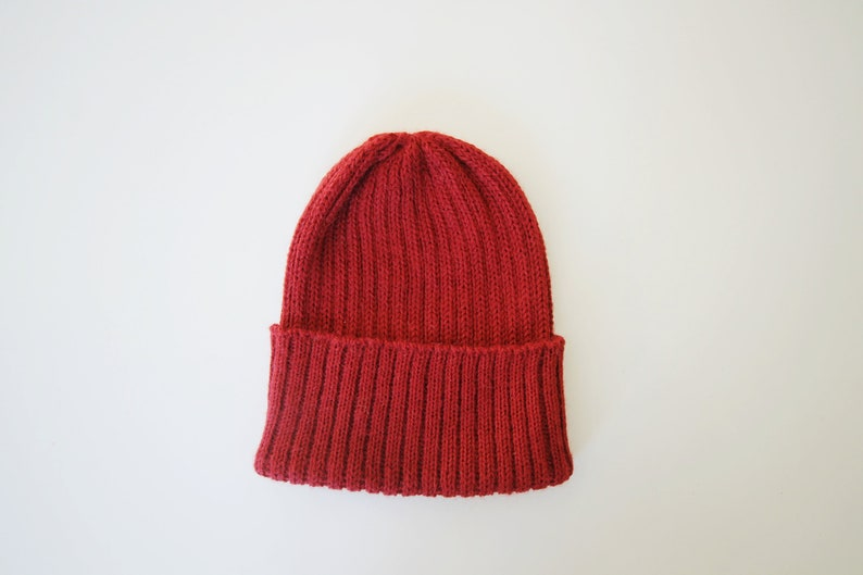2d022f28d8146 Tomato Red Beanie Hat for Babies   Children. 100% Alpaca.