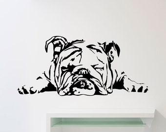 Bulldog Wall Decal Etsy