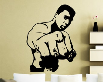 Muhammad Ali Wall Art Stickers si vous même rêve de Me Battre Citation Wall Decals