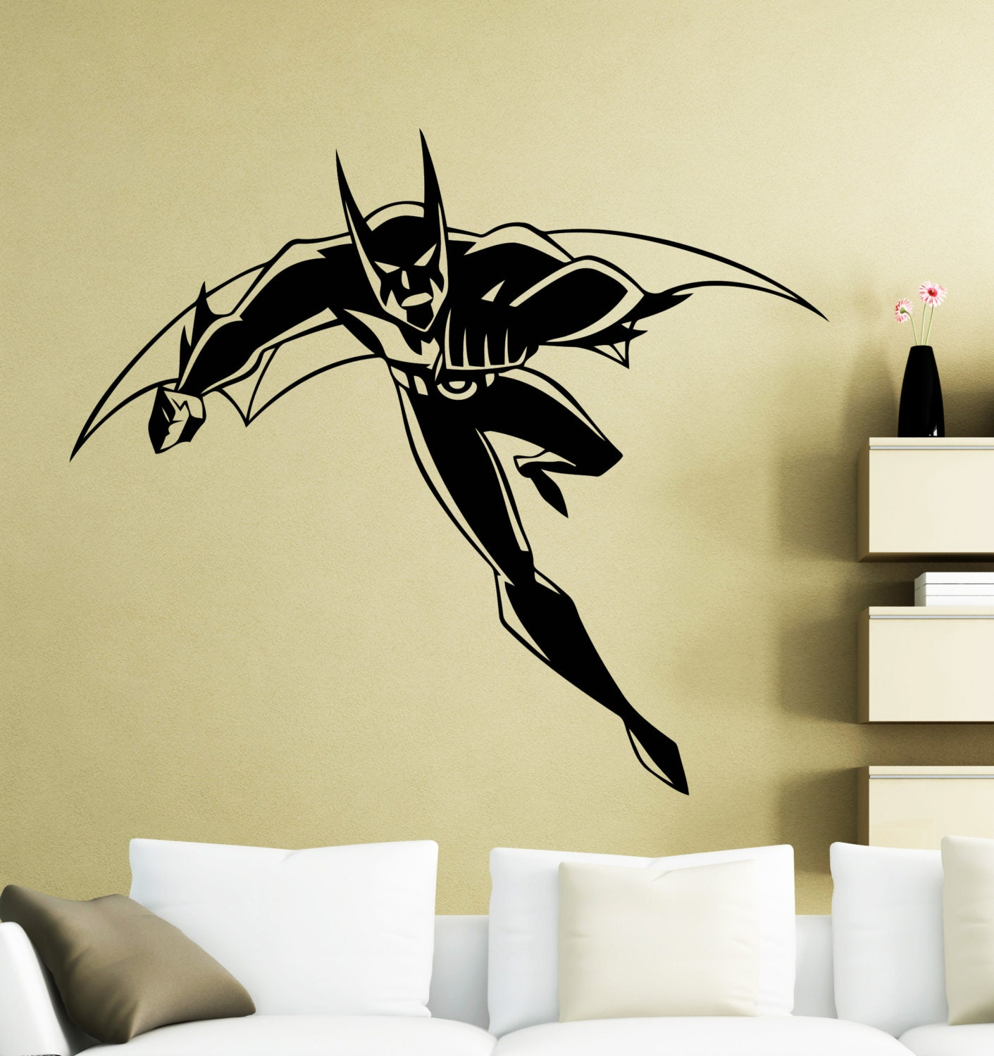 Batman beyond wall sticker superhero dc marvel comics vinyl decal home interior decoration waterproof high quality mural 29su