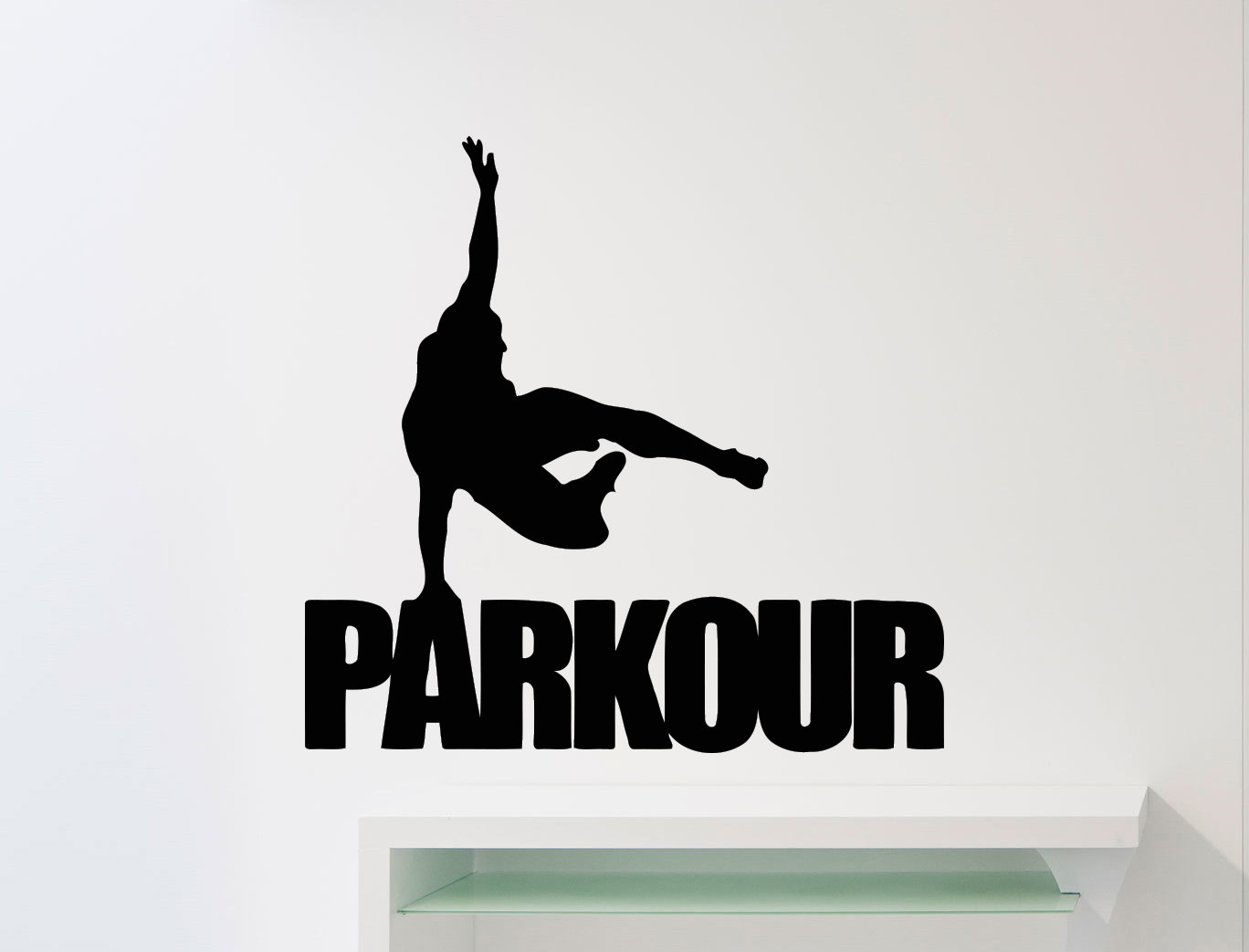 Parkour pared Sticker calle Traceur deporte vinilo Decal Home | Etsy