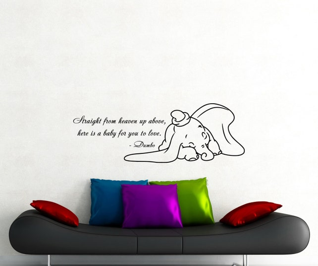 Dumbo citar pared calcomanía Disney elefante de dibujos | Etsy