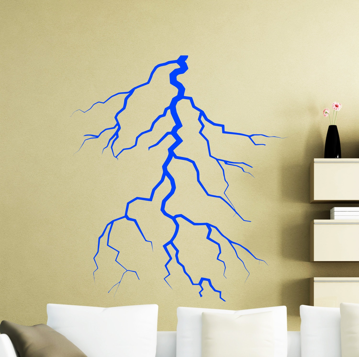 Lightning Strike Wall Decal Thunder Lightning Bolt Vinyl | Etsy