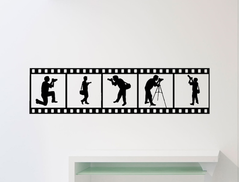 Photographer Wall Sticker Photography Photo Studio Vinyl Decal Home Room Interior Decoration Waterproof High Quality Mural 348xx