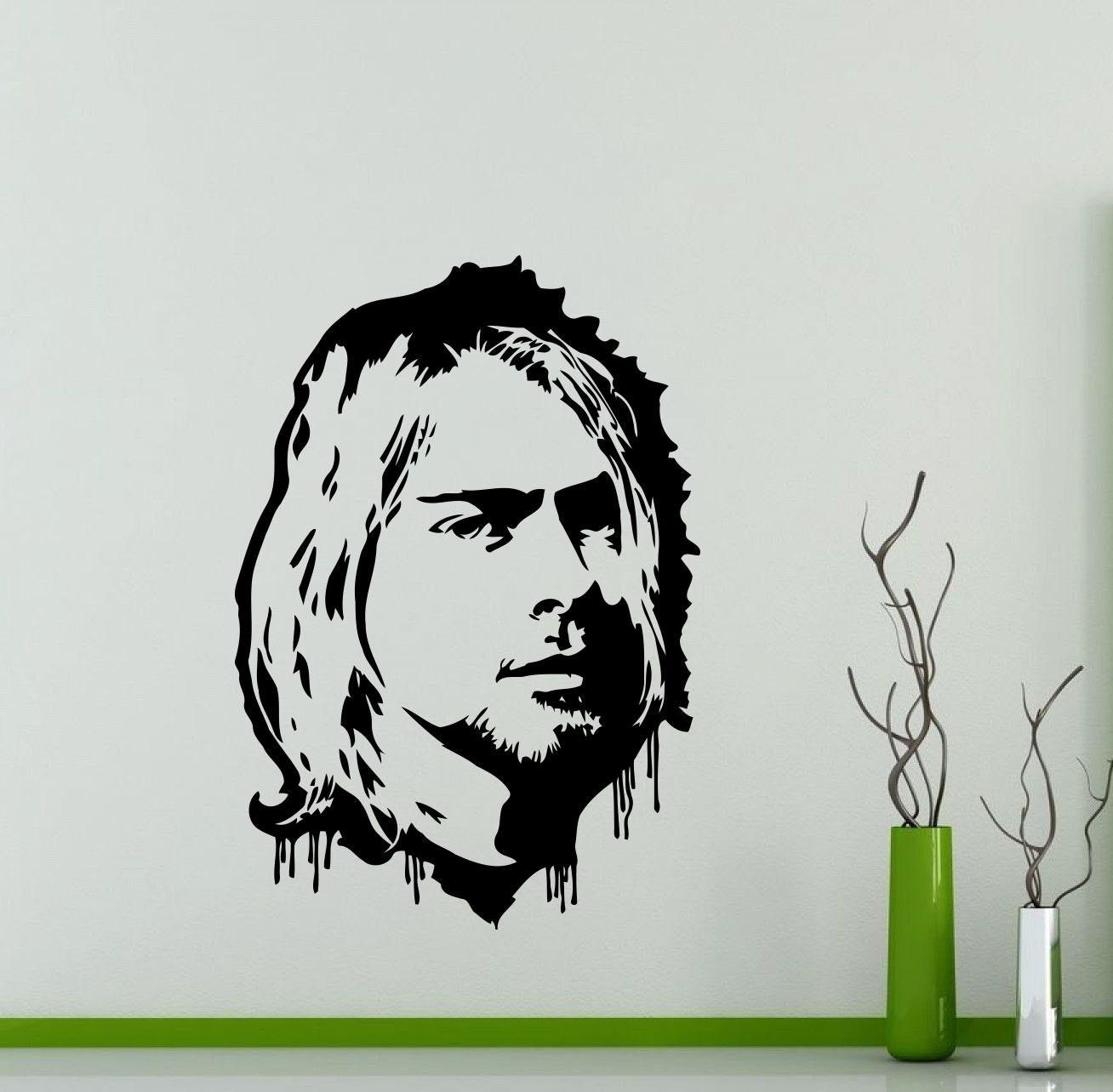 Kurt Cobain pared calcomanía Nirvana Grunge Rock música banda   Etsy