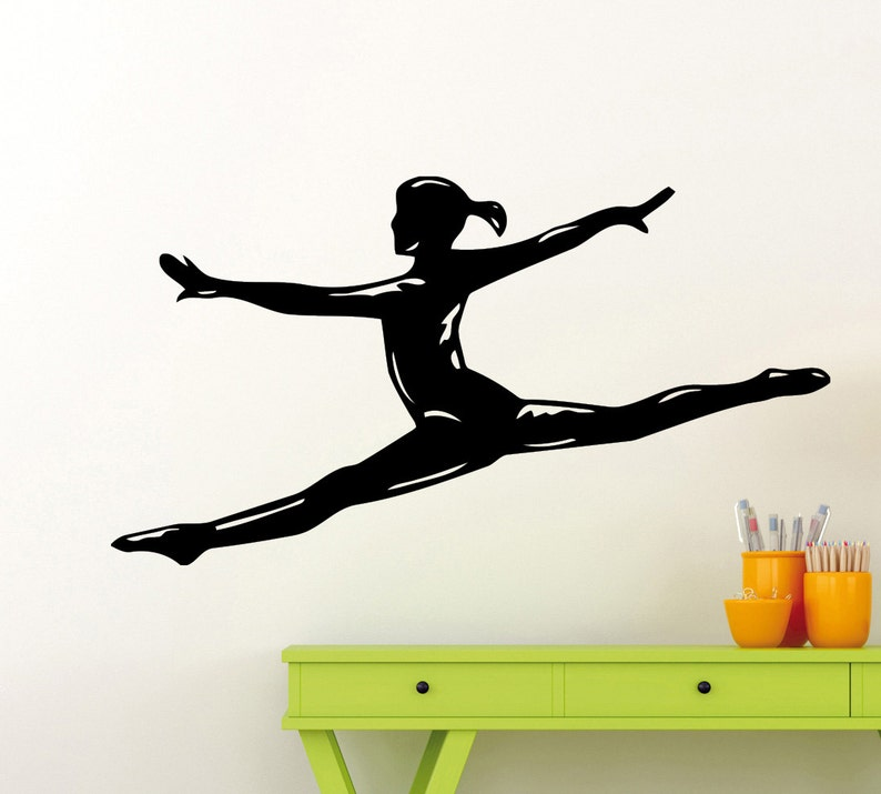 78gy Gymnastics Wall Sticker Sports Fitness Yoga Vinyl Decal Home Interior Decoration Waterproof High Quality Mural