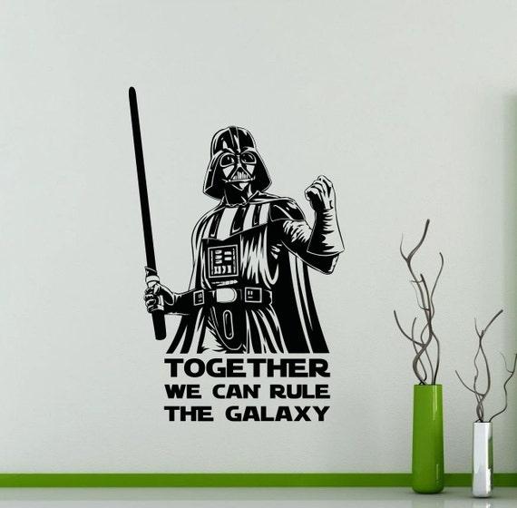 Star Wars Wall decal Darthvader vinyl sticker removable jedi holiday gift mural