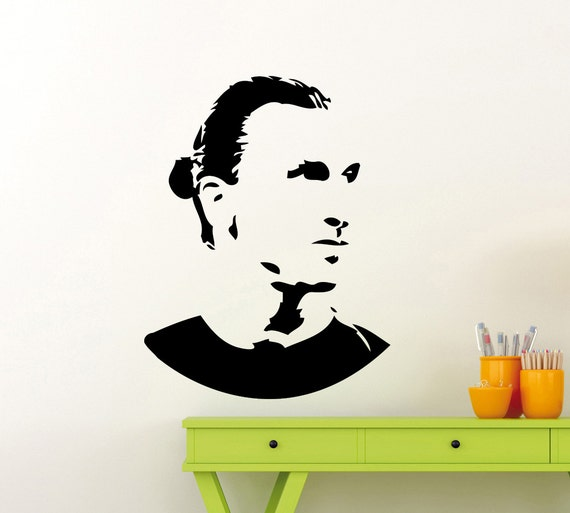 zlatan ibrahimovic wall sticker sport soccer football player | etsy