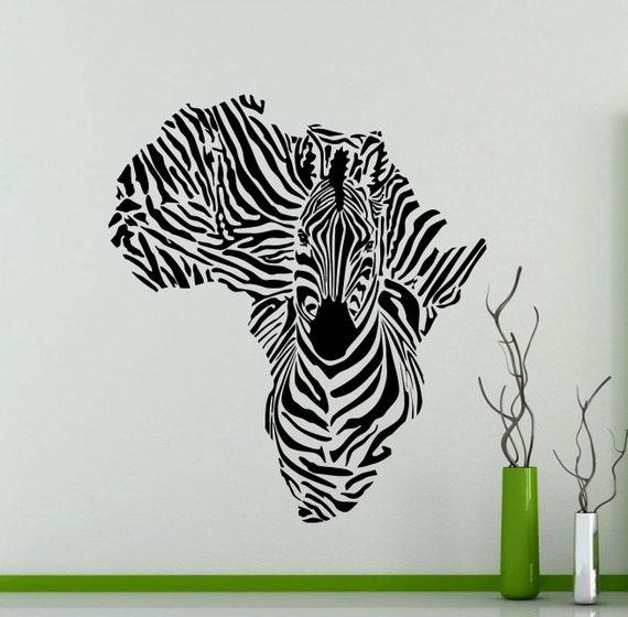 Zebra cébra África pegatinas murales sticker auto espejo