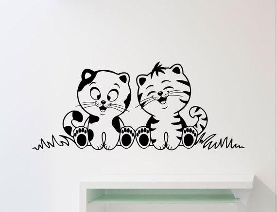 Wall Stickers Cats Kitten Cute Pet Animal Nursery Girls Bedroom Art Decals Vinyl