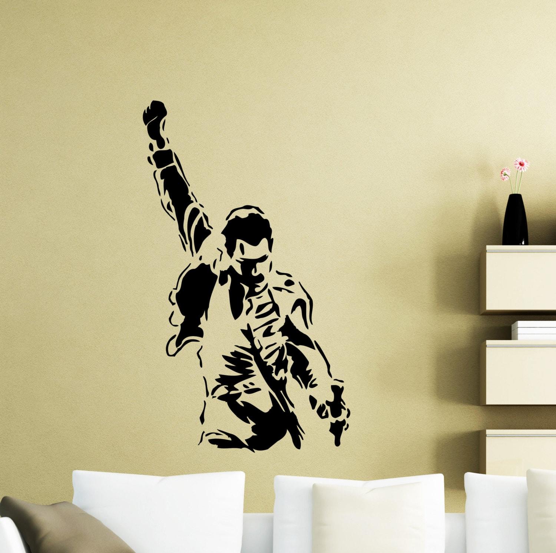 Freddie Mercury Wall Decal Queen Metal Rock Music Band Vinyl | Etsy