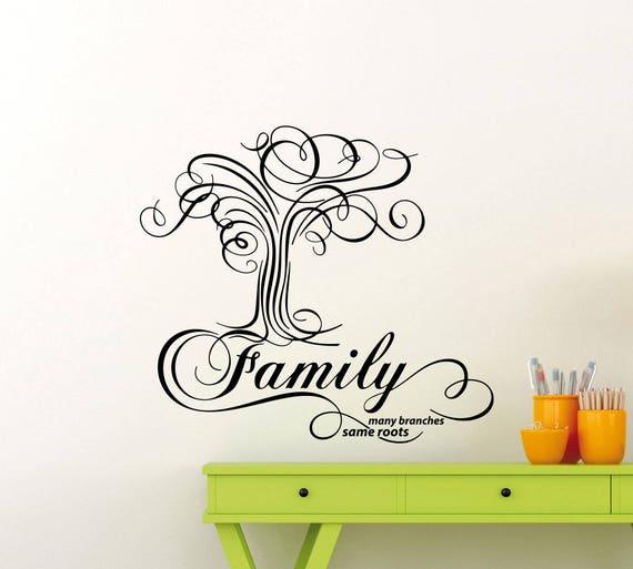 Familie Wandtattoo Vielen Zweigen Gleich Wurzeln Baum Zitat Etsy
