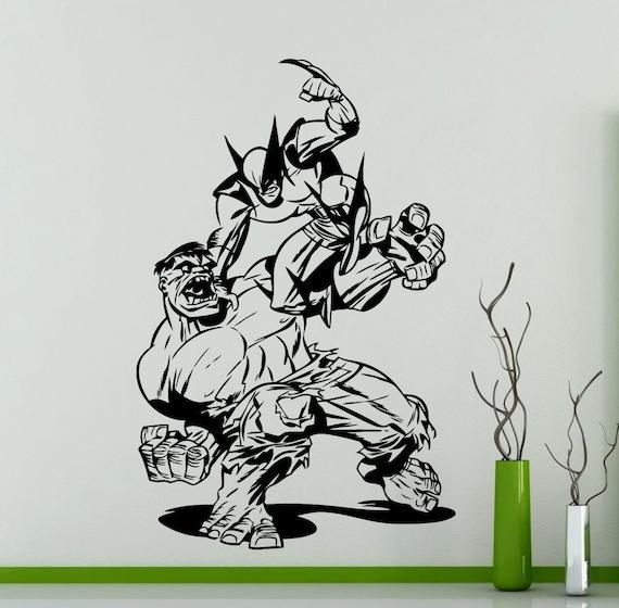 Vielfra hulk decal superhelden dc marvel comics vinyl etsy for Batman wandtattoo