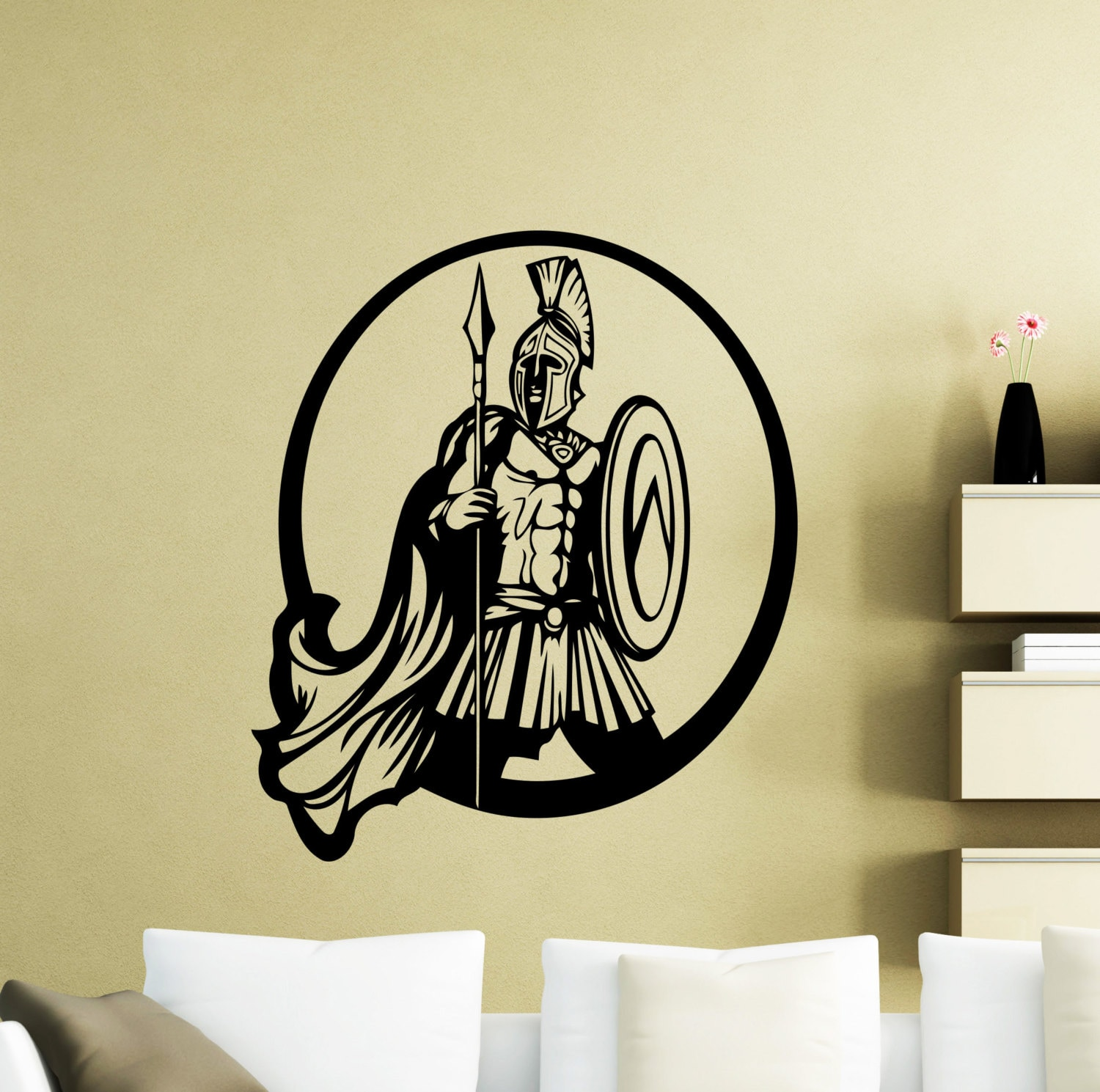 Gladiator Wall Decal Rome Warrior Cartoon Movie Vinyl Sticker | Etsy