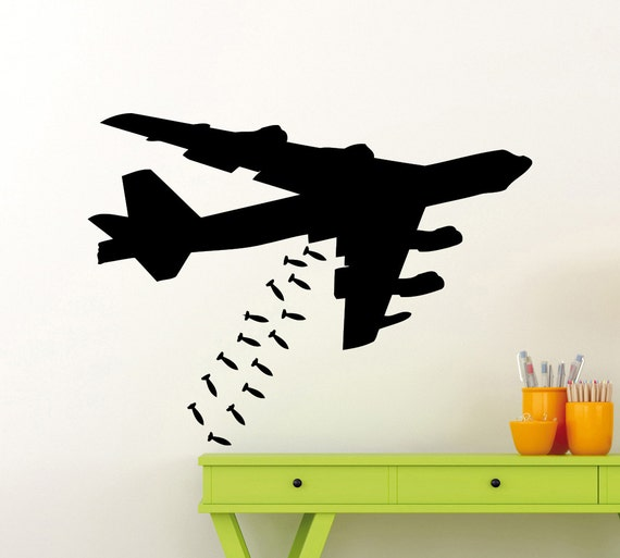 Nombre Personalizado de avión jet militar Ejército Puerta Pared Calcomanía Vinilo Pegatinas Niños UK