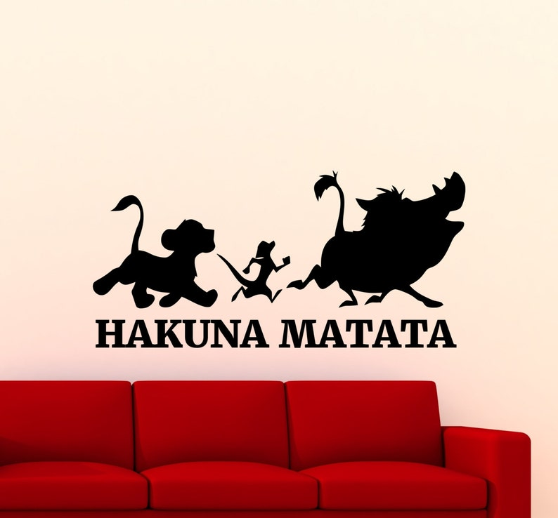 533cdc7ec677e Hakuna Matata le roi Lion Wall sticker Disney Cartoon Timon | Etsy