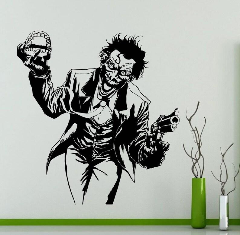 231su Joker Wall Sticker DC Marvel Comics Superhero Vinyl Decal Home Interior Decoration Waterproof High Quality Mural