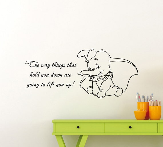 great dumbo quotes pictures \u003e\u003e dumbo quotes inspiration you go dumbodumbo quote wall decal disney elephant cartoon vinyl sticker etsy