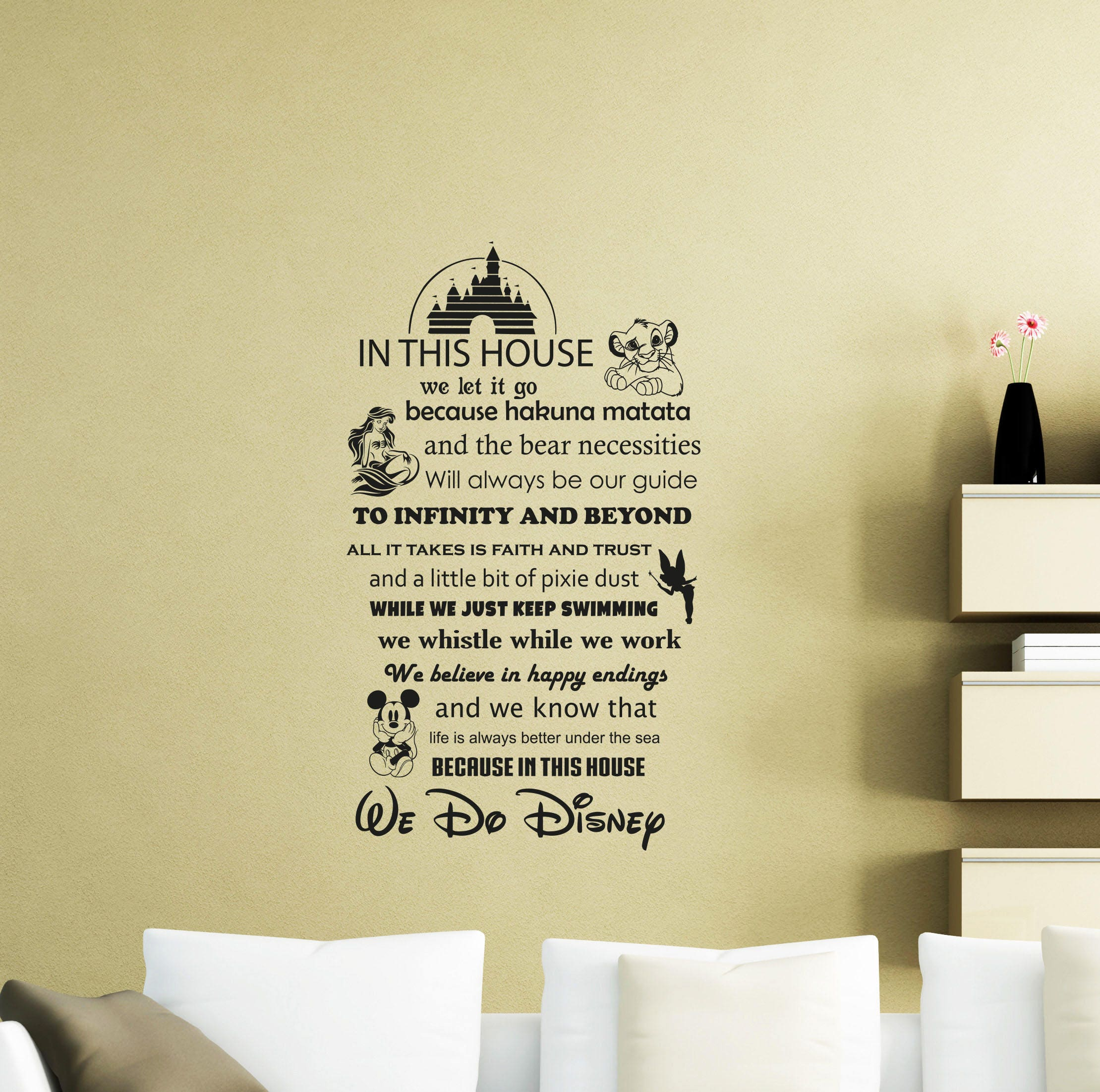 In This House We Do Disney Wall Decal Quote Vinyl Sticker Home | Etsy
