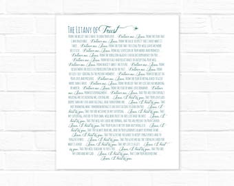 image about Litany of Humility Printable identified as Litany of Humility electronic obtain Etsy