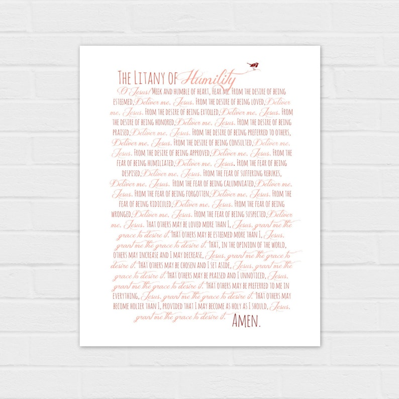picture about Litany of Humility Printable titled Litany of Humility electronic obtain
