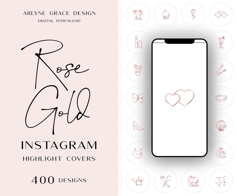 Instagram Highlight Covers - Instagram Highlight Icons - Instagram Story  Covers - Instagram Icons - Instagram Minimalist Rose Gold Covers