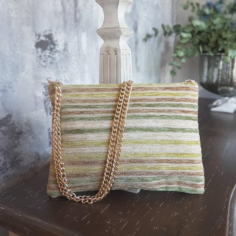 Lime velvet lime shoulder bag  Handmade in Italy  RB image 0